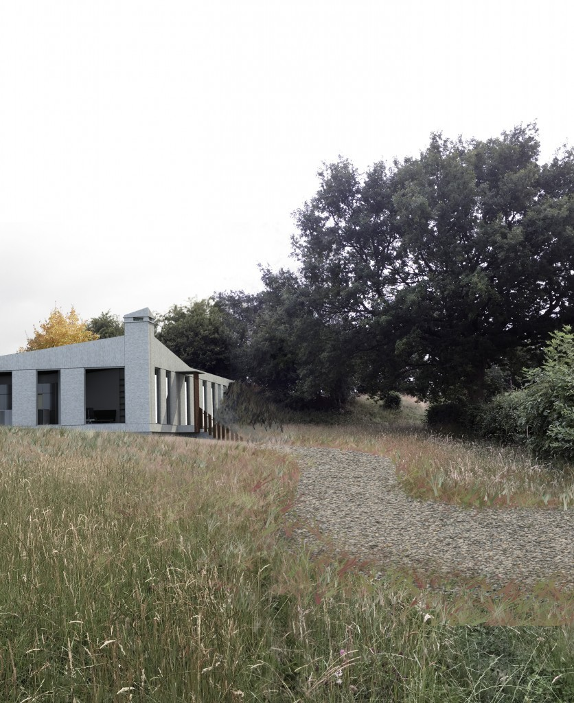 New build house in Herefordshire, part earth sheltered