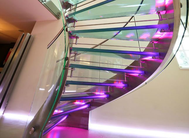 Staircase in remodelled house in Cheltenham