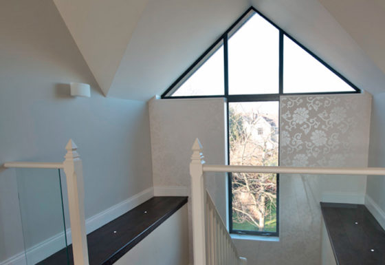 Contemporary single storey extension and internal refurbishment to a large family home.