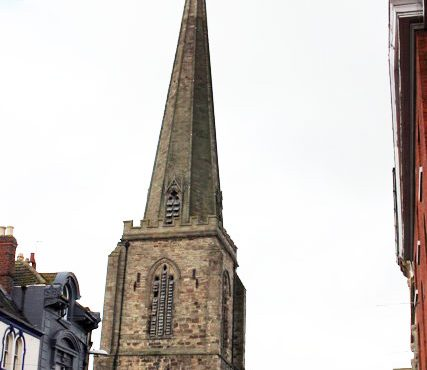 All Saints Church spire.
