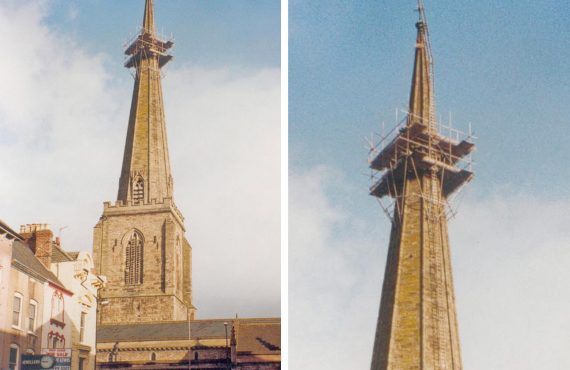 All Saints Church spire repairs.