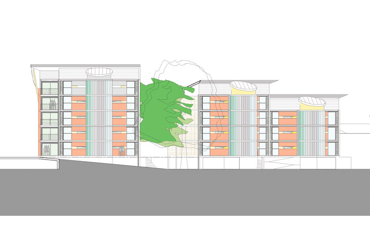 Speculative, environmentally focused apartment development planned for the banks of the Wye in Hereford.