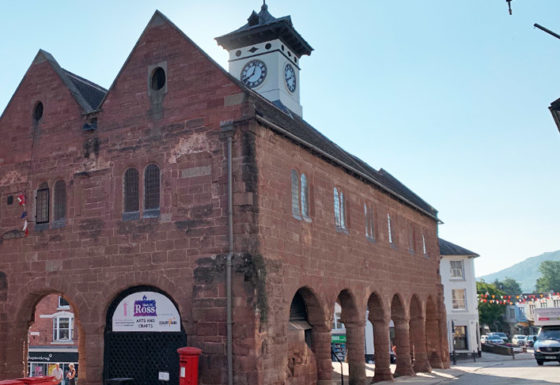 Ross Market House following phase 1 of repairs, showing the restorations.