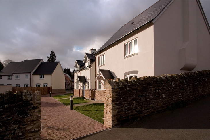 A conservative, traditional development in Bromyard, Herefordshire