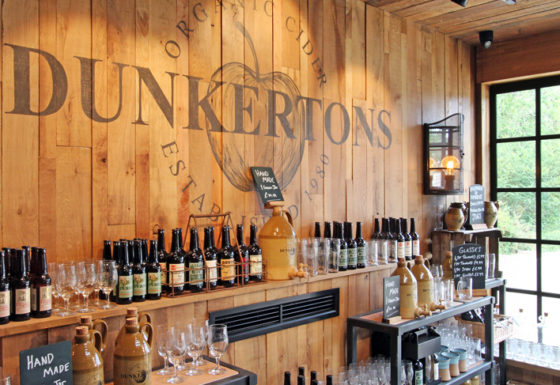 Inside Dunkertons Organic Cider at the Dowdeswell Park commercial development