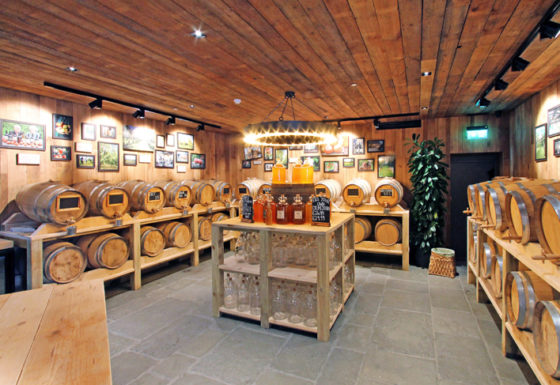 Inside Dunkertons Organic Cider at the Dowdeswell Park commercial development in Cheltenham, Gloucestershire.
