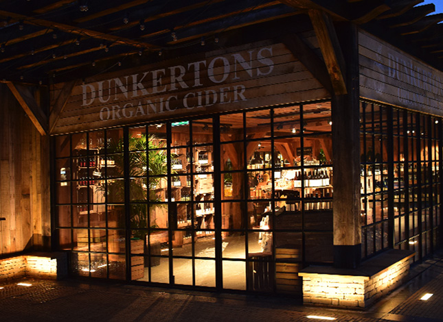 Dunkertons Cider retail outlet on the Dowdeswell Park, Cheltenham.