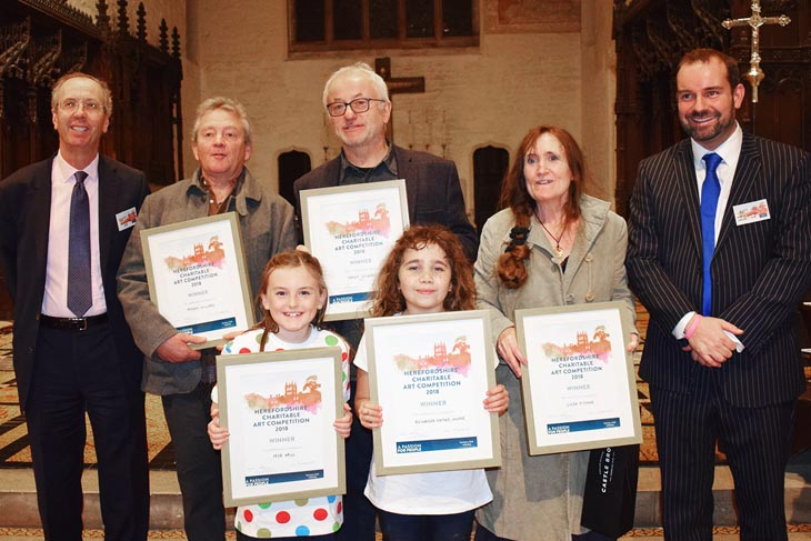 Winners of the Harrison Clark Rickerbys Charitable Art Competition in Hereford 2018
