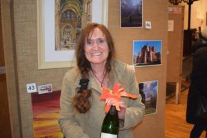 Linda Pitcher, winner of the RRA sponsored 'The City' category of the Harrison Clark Rickerbys Charitable Art Competition