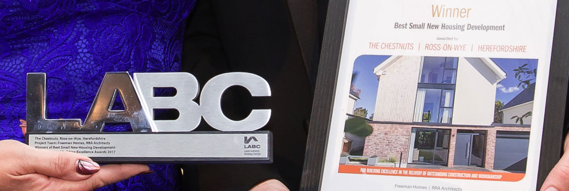 LABC Award for new build housing.