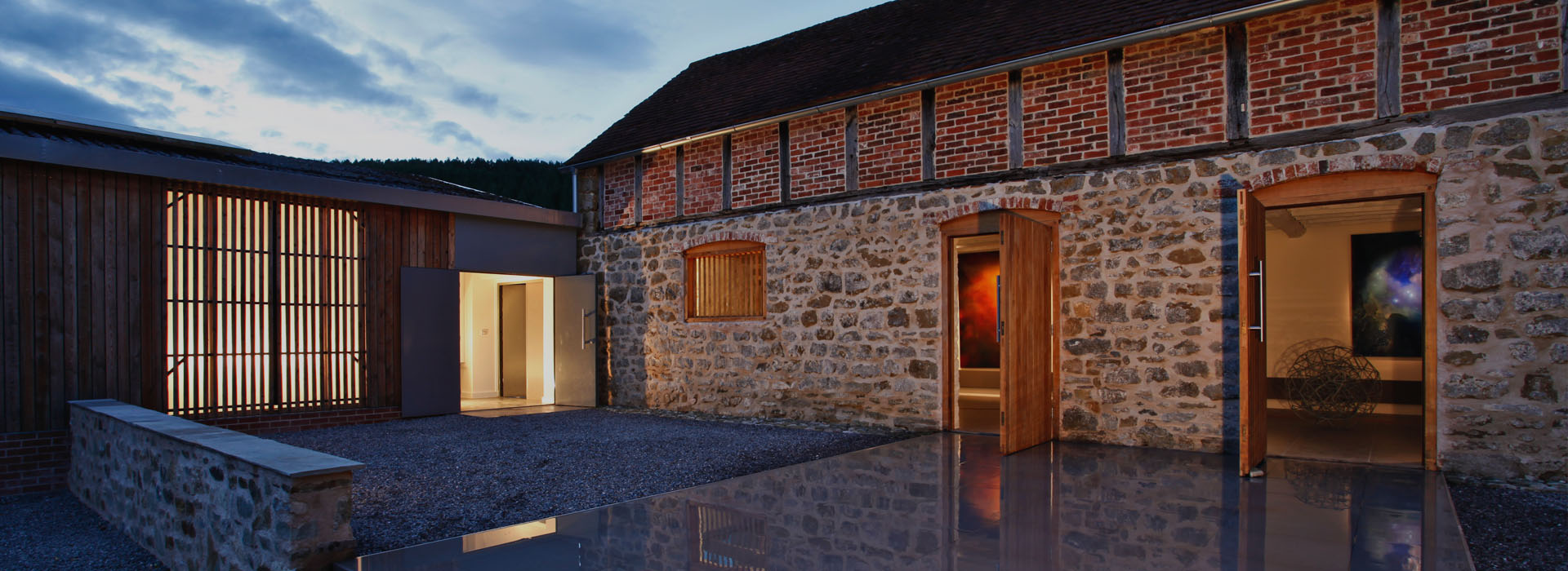 Canwood Gallery contemporary barn conversion