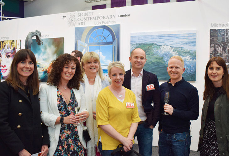 RRA team and friends at Fresh: Art Fair 2019