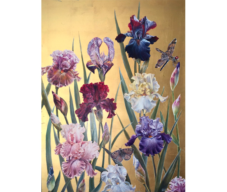 'Iris' by Ruth Winding, represented by The Stratford Gallery.