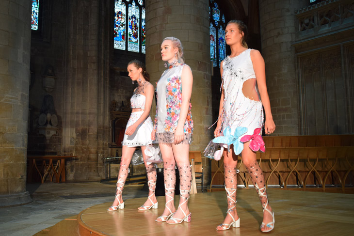 New talent on show at the Stroud College end of year fashion show at Gloucester Cathedral