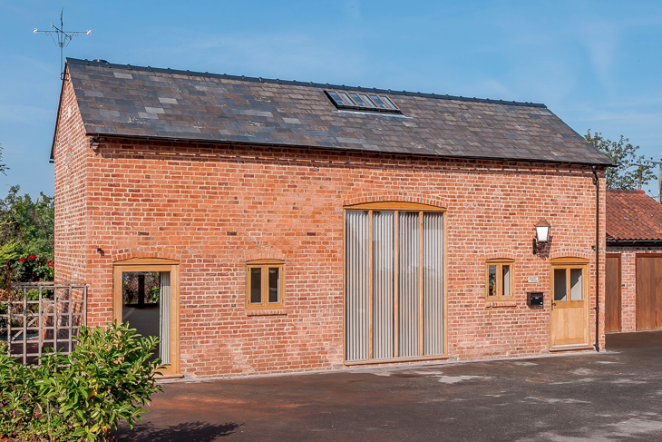 A former coach house converted to holiday home.