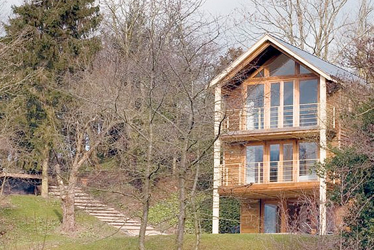 Three storey, contemporary, timber framed private house.