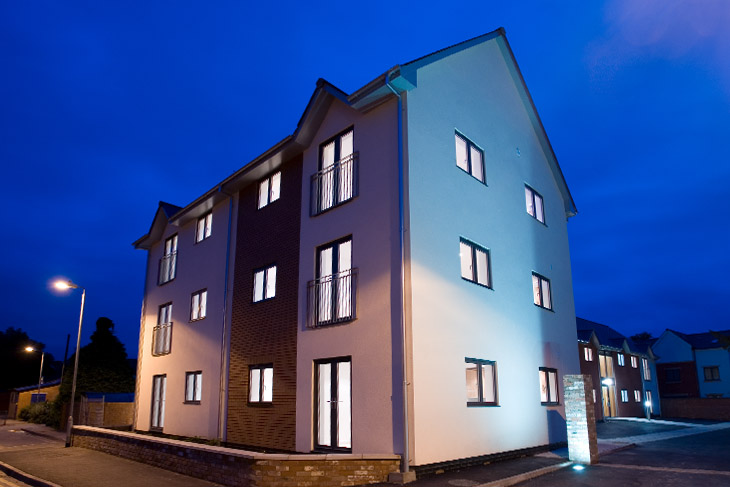 A new build residential development of 13 apartments