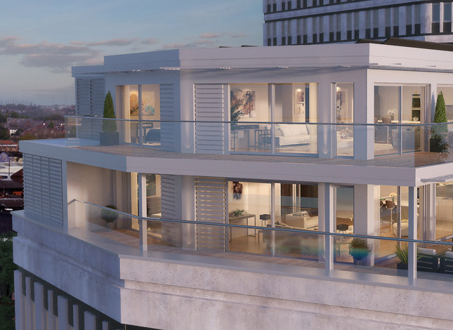 Montpellier House, Penthouse residential development in Cheltenham, Gloucestershire.