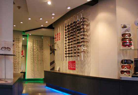 Retail shop fitout of an eyewear store in Hereford.