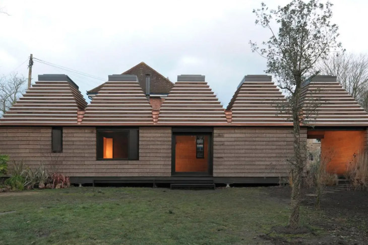 Cork House by architects Matthew Barnett Howland with Dido Milne and Oliver Wilton.