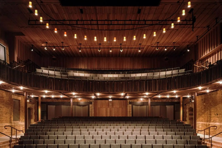 Nevill Holt Opera Theatre by Witherford Watson Mann Architects.