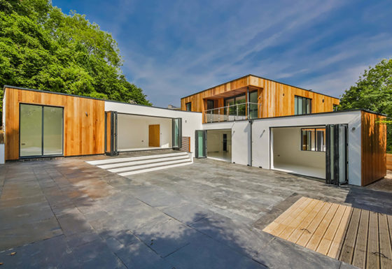 Contemporary new build private house with views over Cheltenham