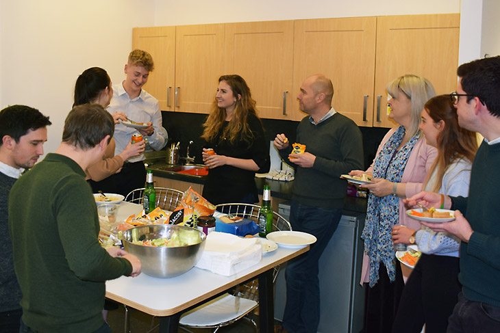 "Our ""Monthly Munch' lunch ensures the whole team gets together at least once a month in one of the offices."