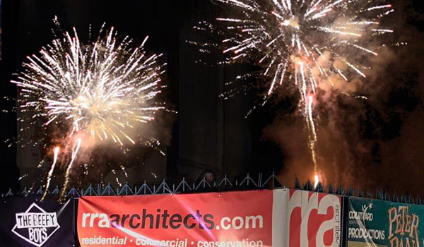 RRA sponsored the Castle Green Fireworks in aid of St James' School, Hereford.