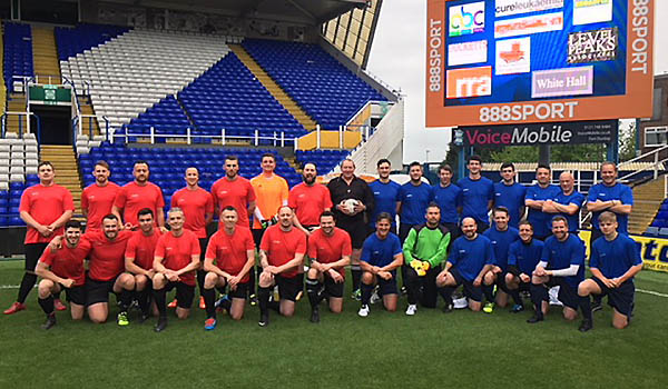RRA team members took part in a football match at Birmingham City grounds in aid of Cure Leukaemia