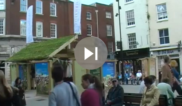Watch the time lapse of the pavilion being constructed to advertise Hay Festival