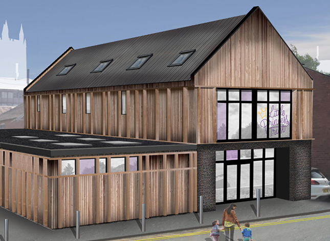 Proposals for the Little Princess Trust Centre of Excellence in Hereford Town Centre, Herefordshire