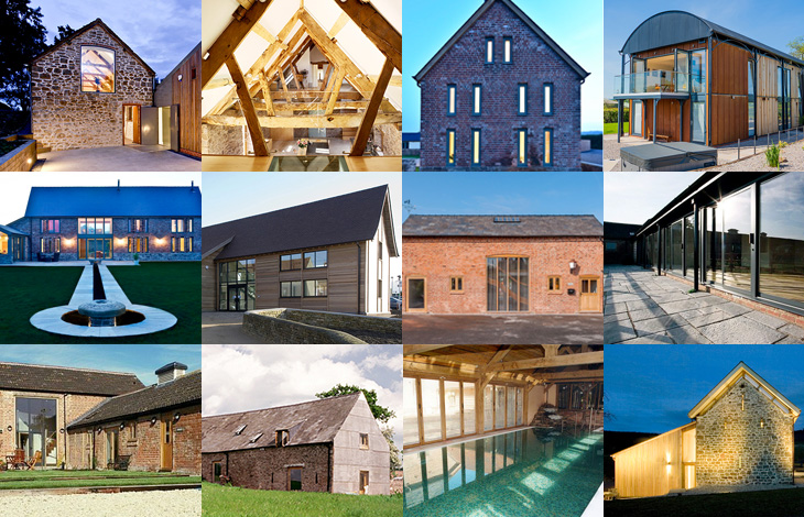 Barn conversions by RRA Architects in Hereford, Gloucester, Shropshire, Wales and the Cotswolds
