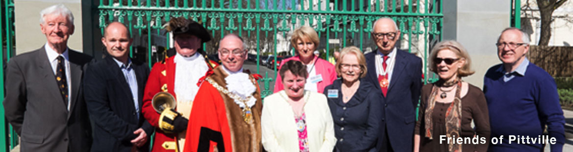 The opening of Pittville Gates with the Friends of Pittville, project team and Lord Mayor