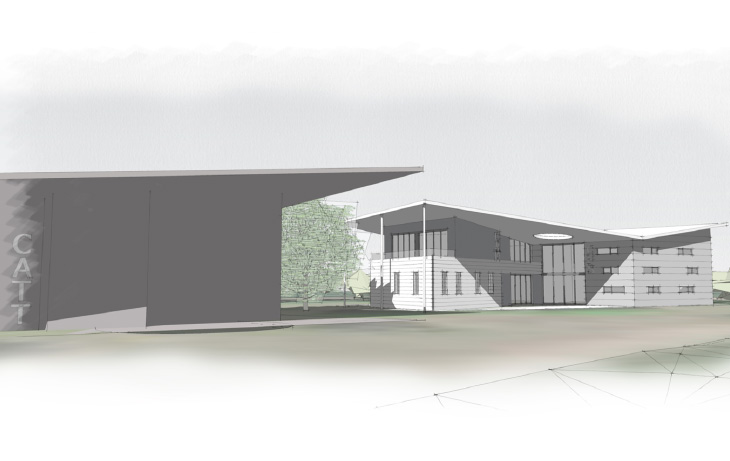 Proposed Sketch Visual- In Context of CATT Building (Competition Entry)