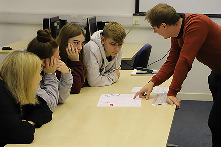 Ludow and Shropshire based RRA Architects Associate, Oliver Smith, went back to college to share his knowledge.