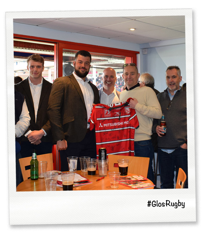 RRA Architects longstanding support for Gloucester Rugby