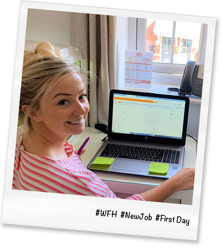 RRA Architects Steffany Hancock working from home after starting her new job during lockdown 2020