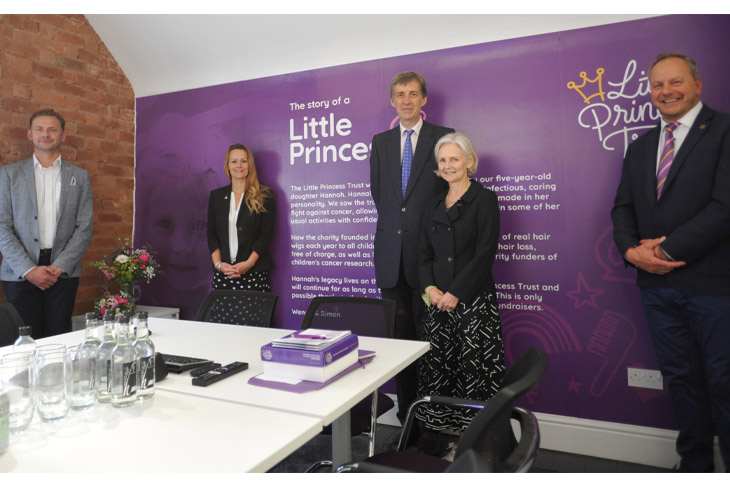 Pictured left to right are William Lindesay, Wendy Tarplee-Morris, the Lord-Lieutenant to Herefordshire, Edward Harley, and his wife Victoria, and Phil Brace.