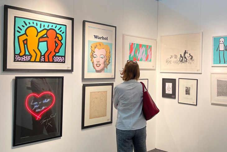 Fresh: Art Fair exhibitors, The Hidden Gallery brought some big names in art including Picasso, Banksy, Hockney and Warhol.