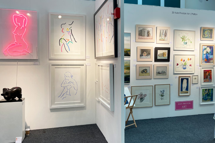 Fresh: Art Fair show a huge range of art from 45 galleries representing over 500 artists, including Kate Preston Art shown here to the right.