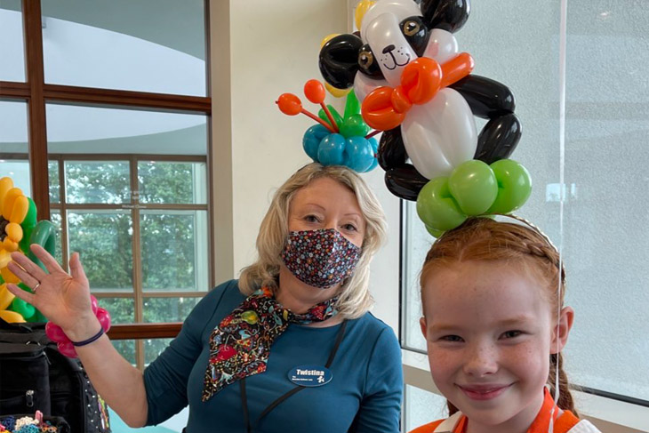 This year balloon artist, Twistina, was on hand to entertain with all sorts of fabulous creations, such as this Panda headband.