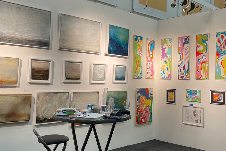 Pieces by Zoe Ashbrook and Jan Tapner on the fresh@fresh stand.