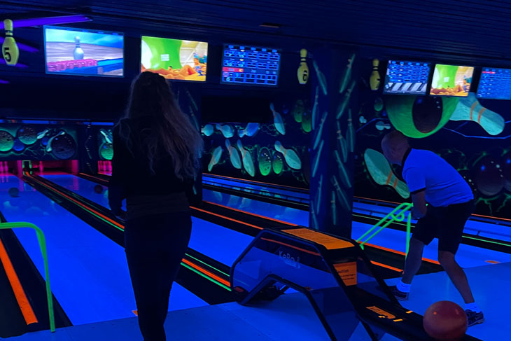 We had a great time bowling on Sunday.