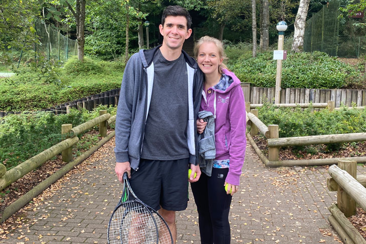 Anyone for tennis? RRA Associate, Tom Froggatt and his wife Louisa, joined us fresh from their honeymoon after having been married only two weeks before.